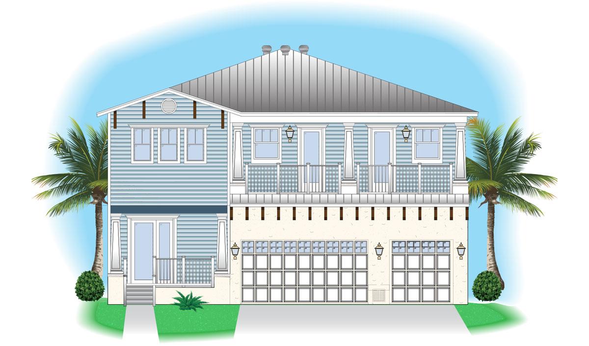 SFC Riviera Model elevation rendering